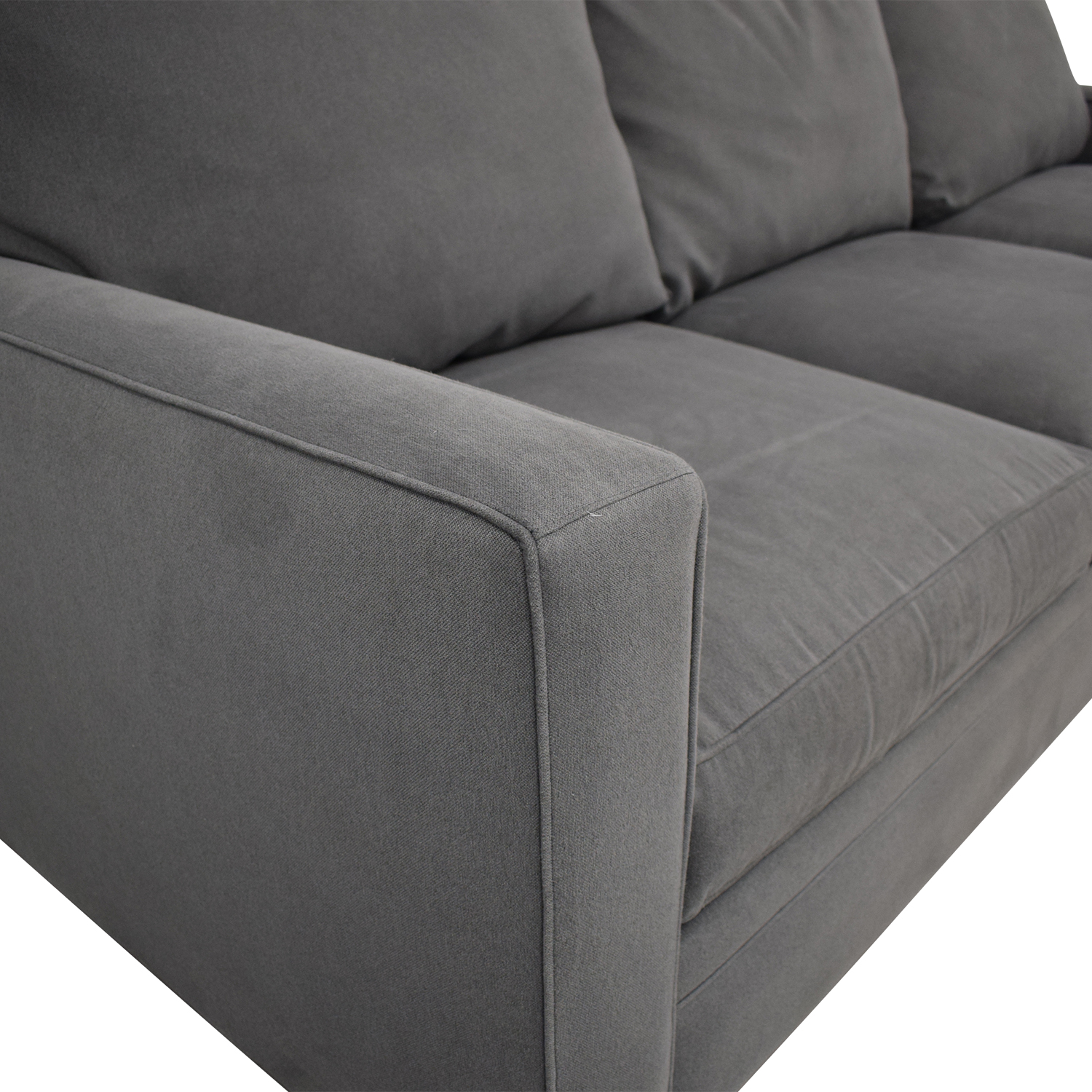 Room & Board Room & Board Orson Sectional Sofa with Chaise grey