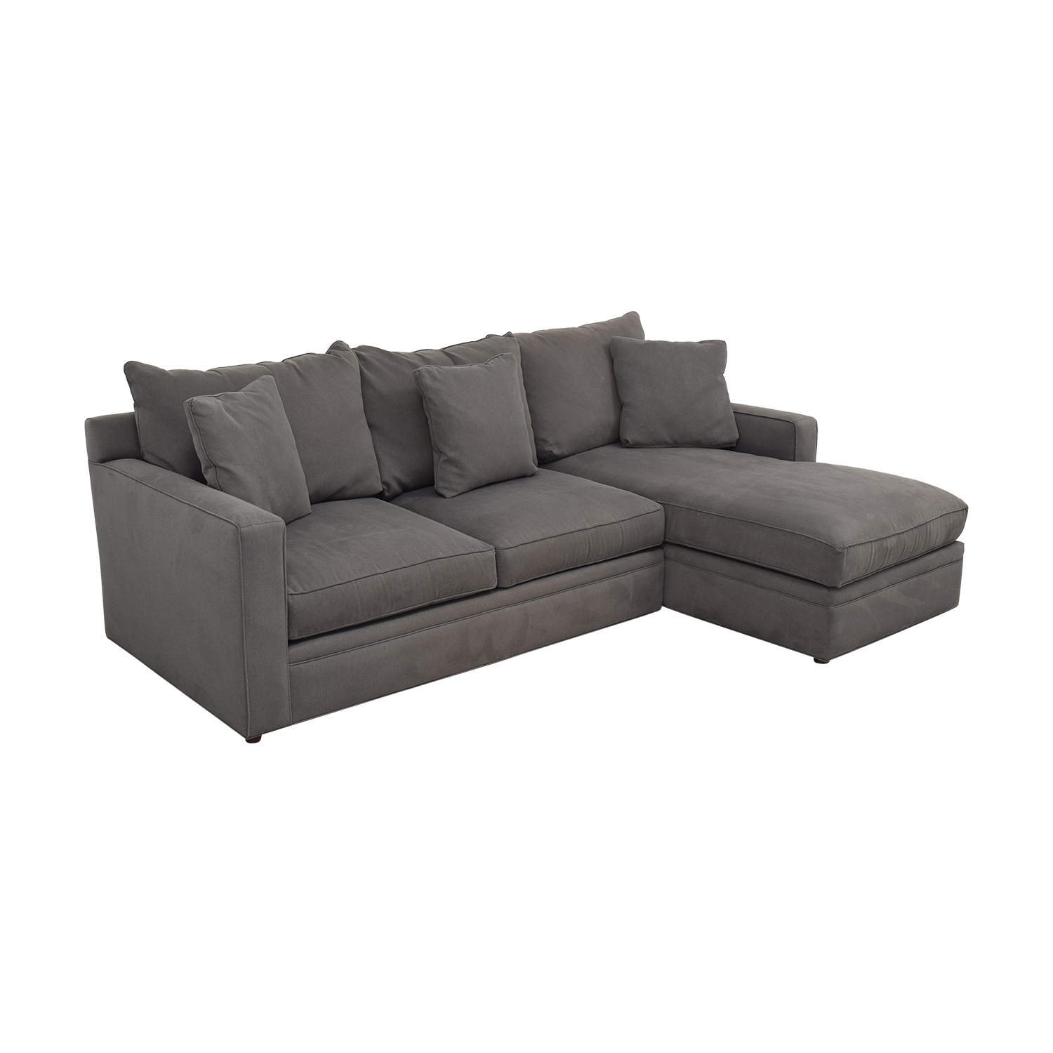 Room & Board Room & Board Orson Sectional Sofa with Chaise dimensions