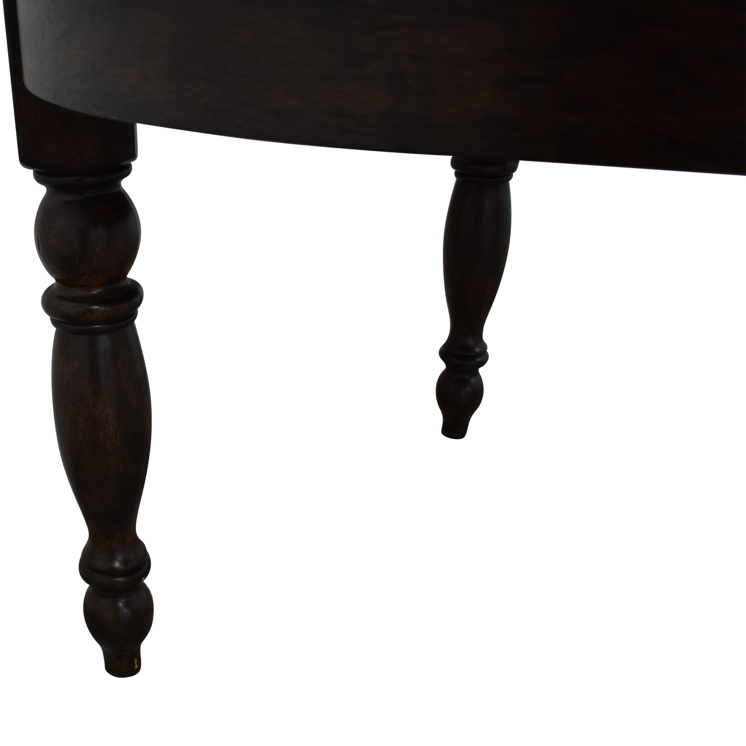 Pottery Barn Pottery Barn Evelyn Extending Round Dining Table dark brown