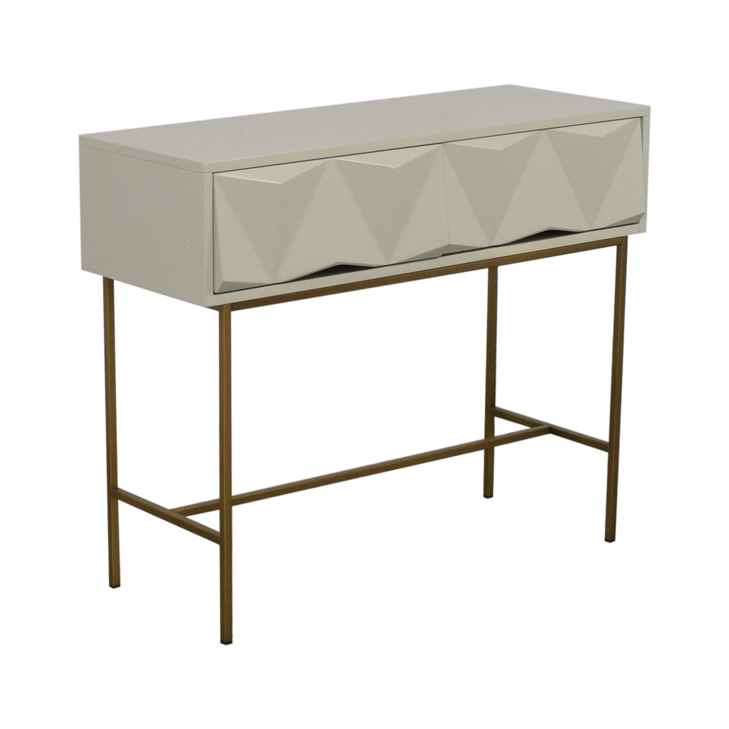 West Elm Sculpted Geo Console West Elm