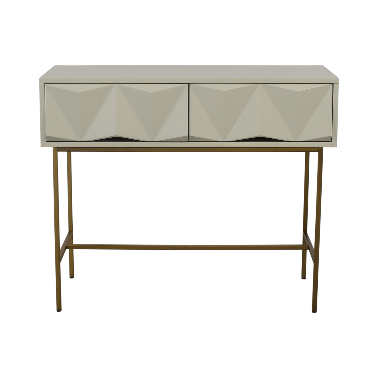 shop West Elm Sculpted Geo Console West Elm Tables