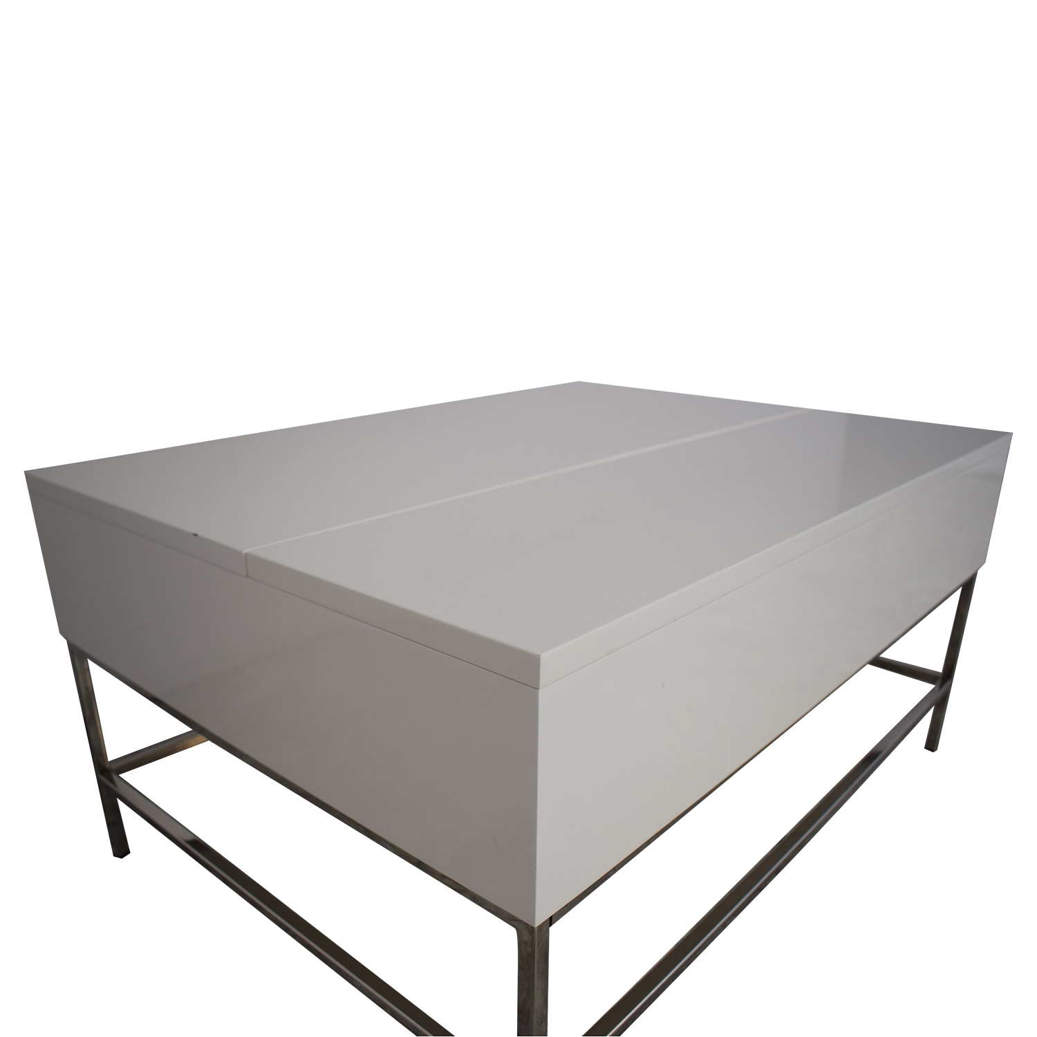 West Elm West Elm Lacquer Storage Coffee Table white