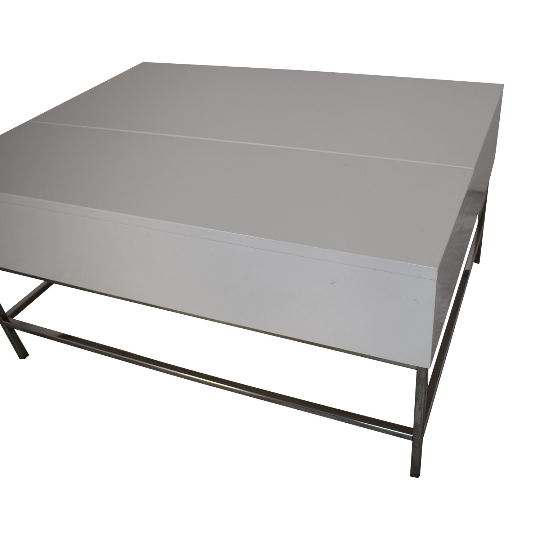 West Elm West Elm Lacquer Storage Coffee Table Tables