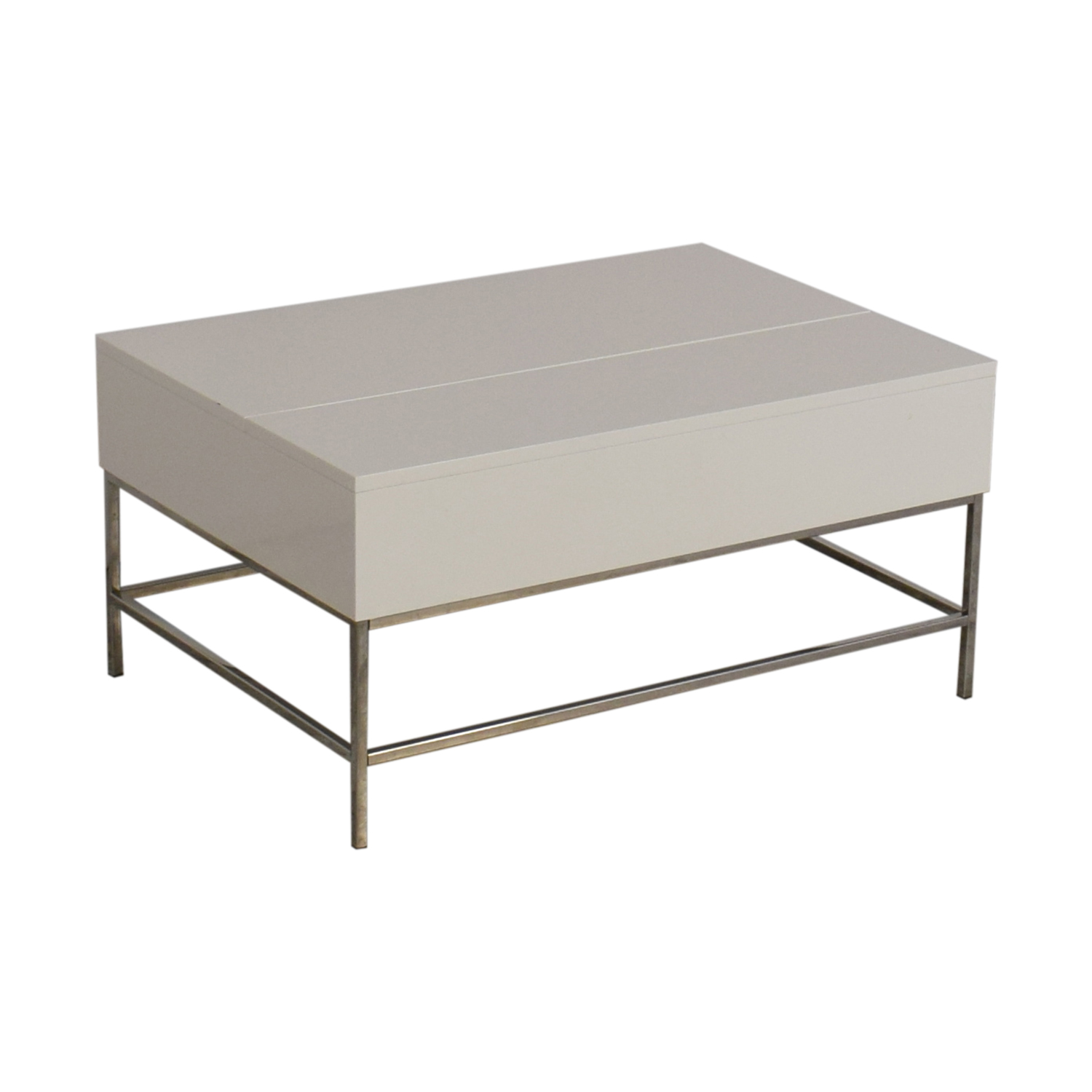 48 Off West Elm West Elm Lacquer Storage Coffee Table Tables