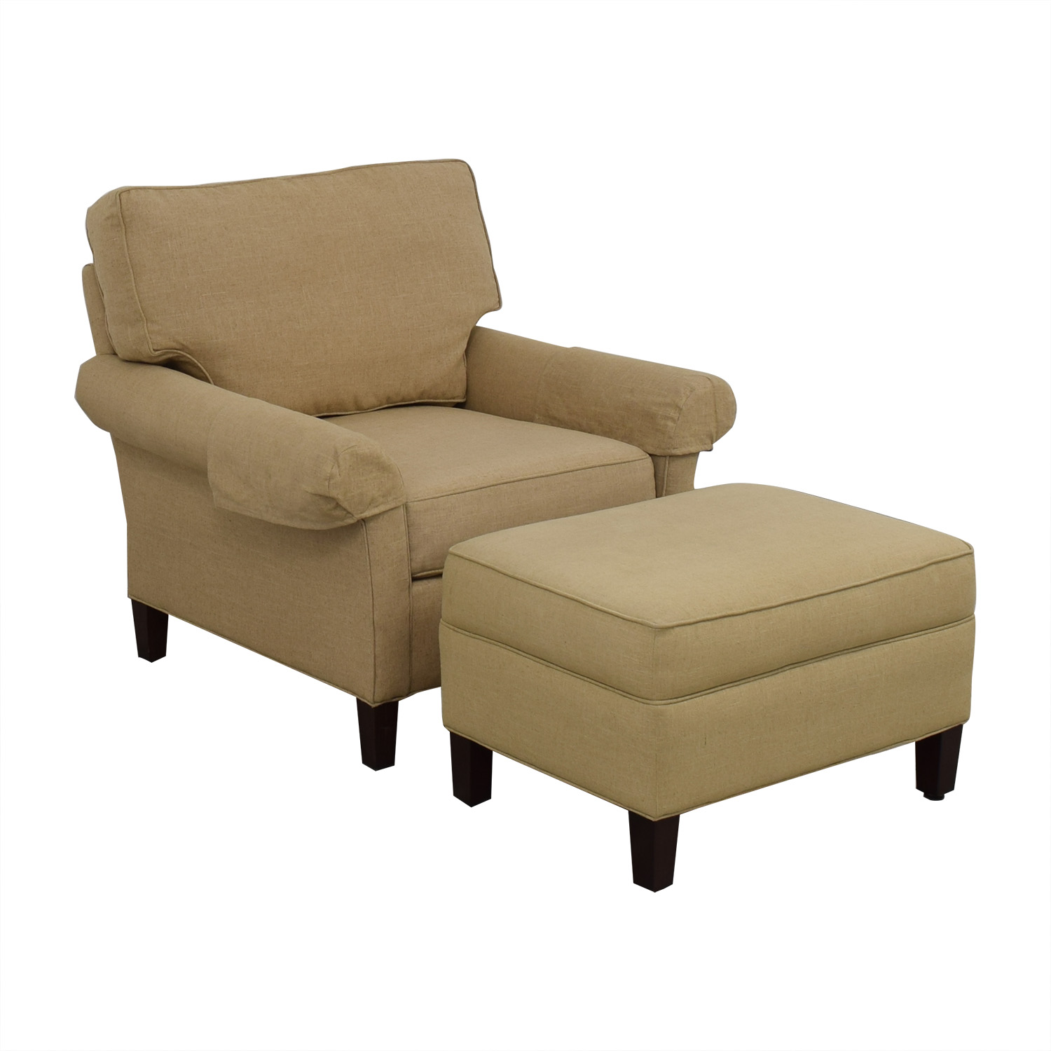 80 Off Calico Callico Corner Armchair And Ottoman Chairs
