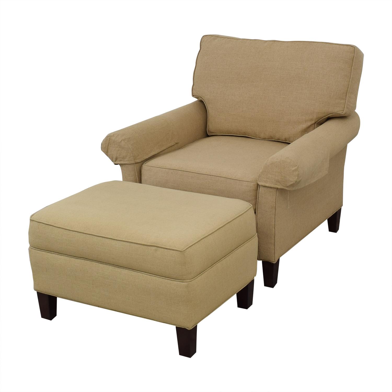 buy Callico Corner Armchair and Ottoman Calico