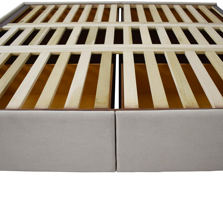 Pottery Barn Upholstered Storage Platform Bed / Beds