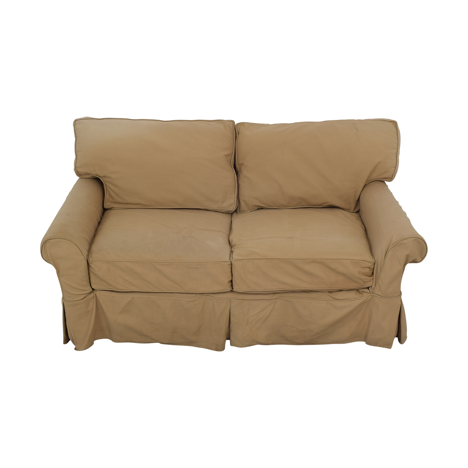 Crate & Barrel Crate & Barrel Potomac Loveseat tan