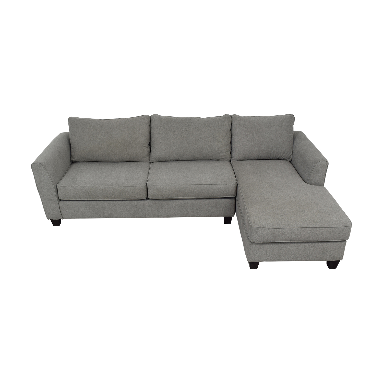 Raymour & Flanigan Raymour & Flanigan Sectional grey