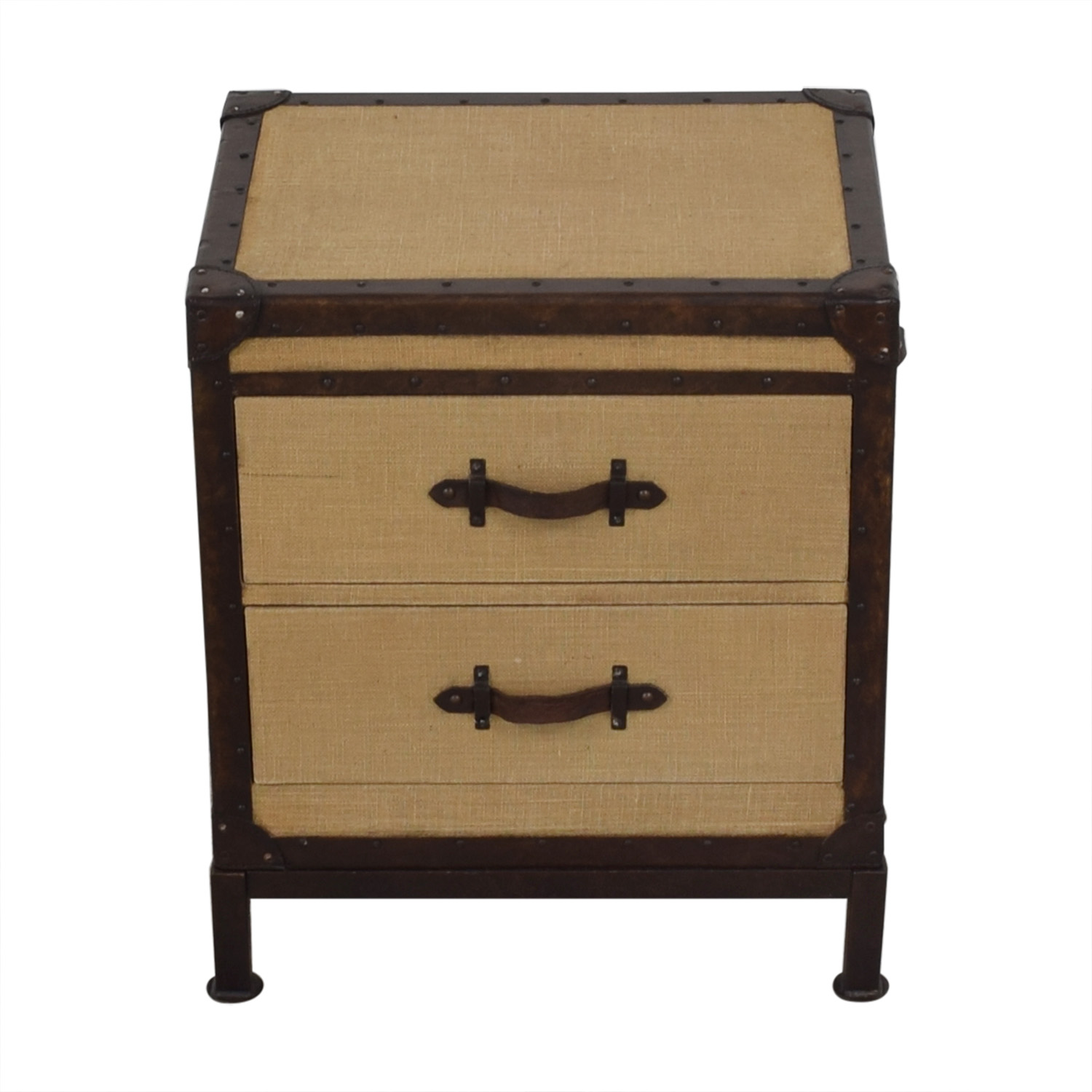 Pottery Barn Redford Trunk Nightstand sale