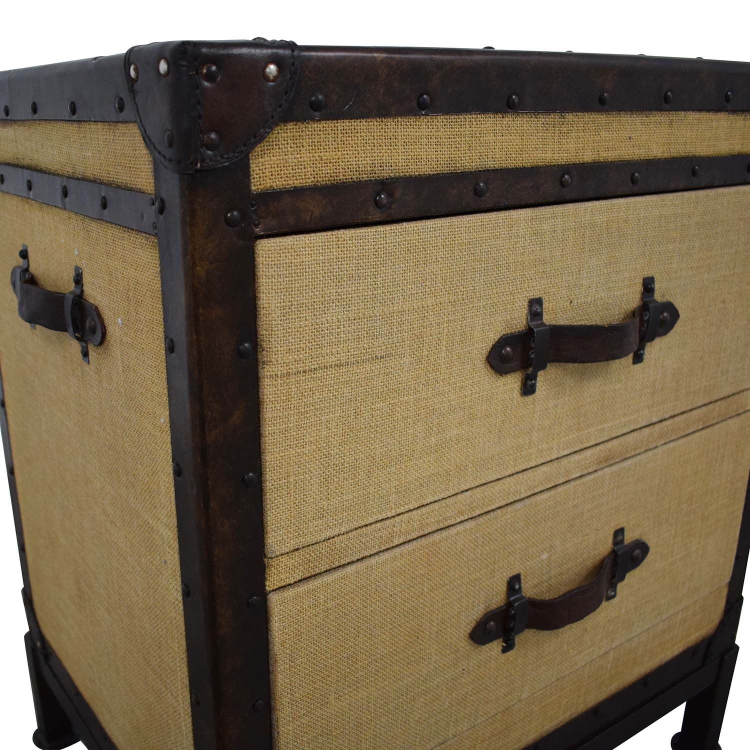 Pottery Barn Pottery Barn Redford Trunk Nightstand brown