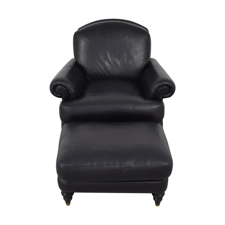 Super 78 Off Ethan Allen Ethan Allen Hyde Chair Ottoman Chairs Short Links Chair Design For Home Short Linksinfo