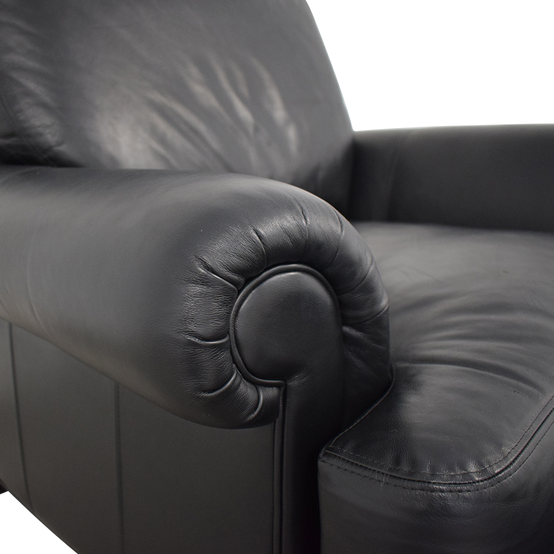 buy Ethan Allen Ethan Allen Hyde Chair & Ottoman online