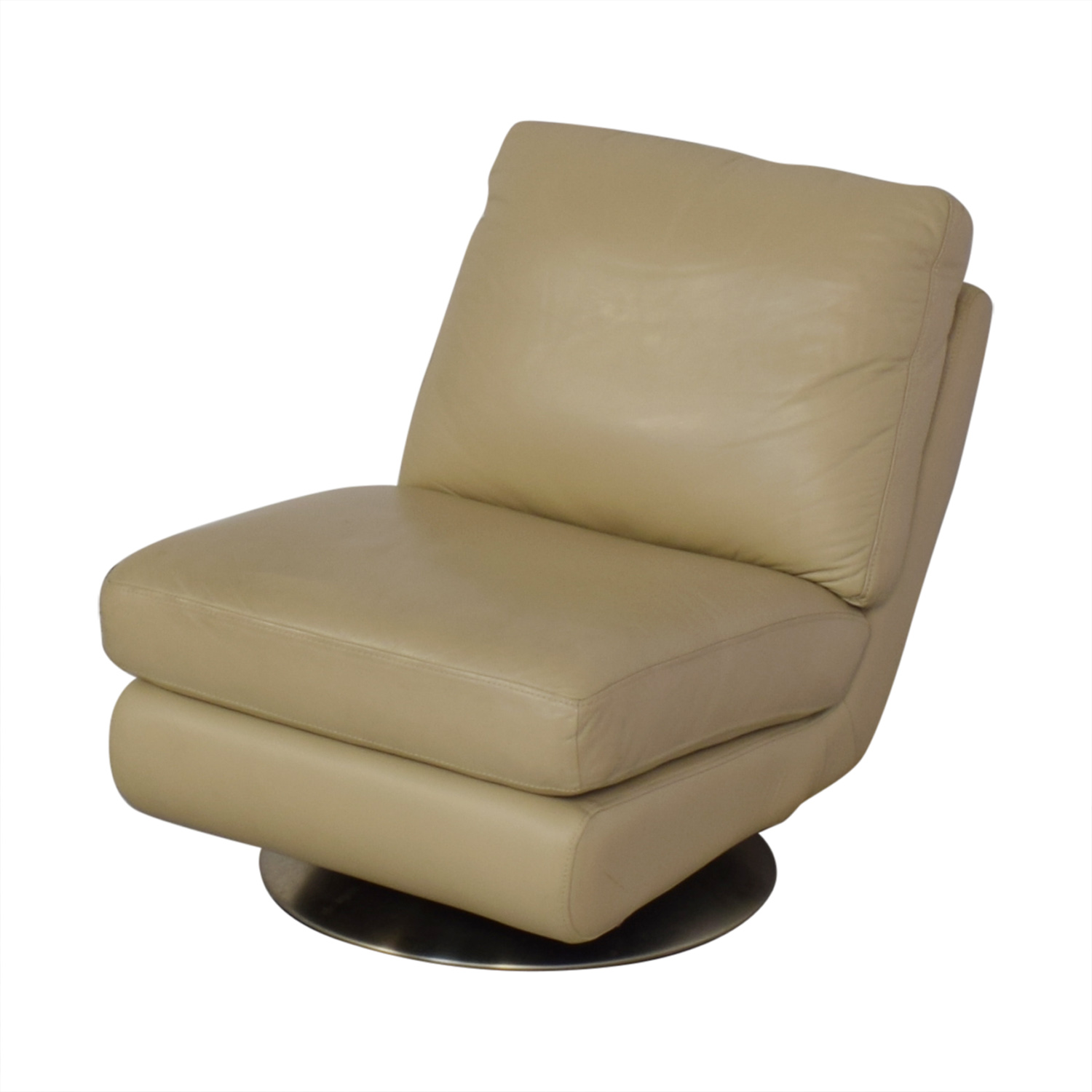 buy West Elm Armless Swivel Chair West Elm