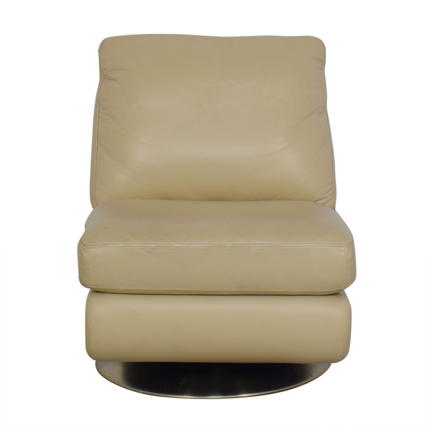 West Elm West Elm Armless Swivel Chair tan