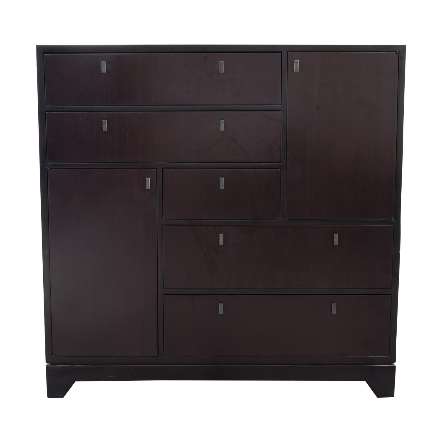 shop Crate & Barrel Five Drawer Dresser with Two Cabinets Crate & Barrel Storage
