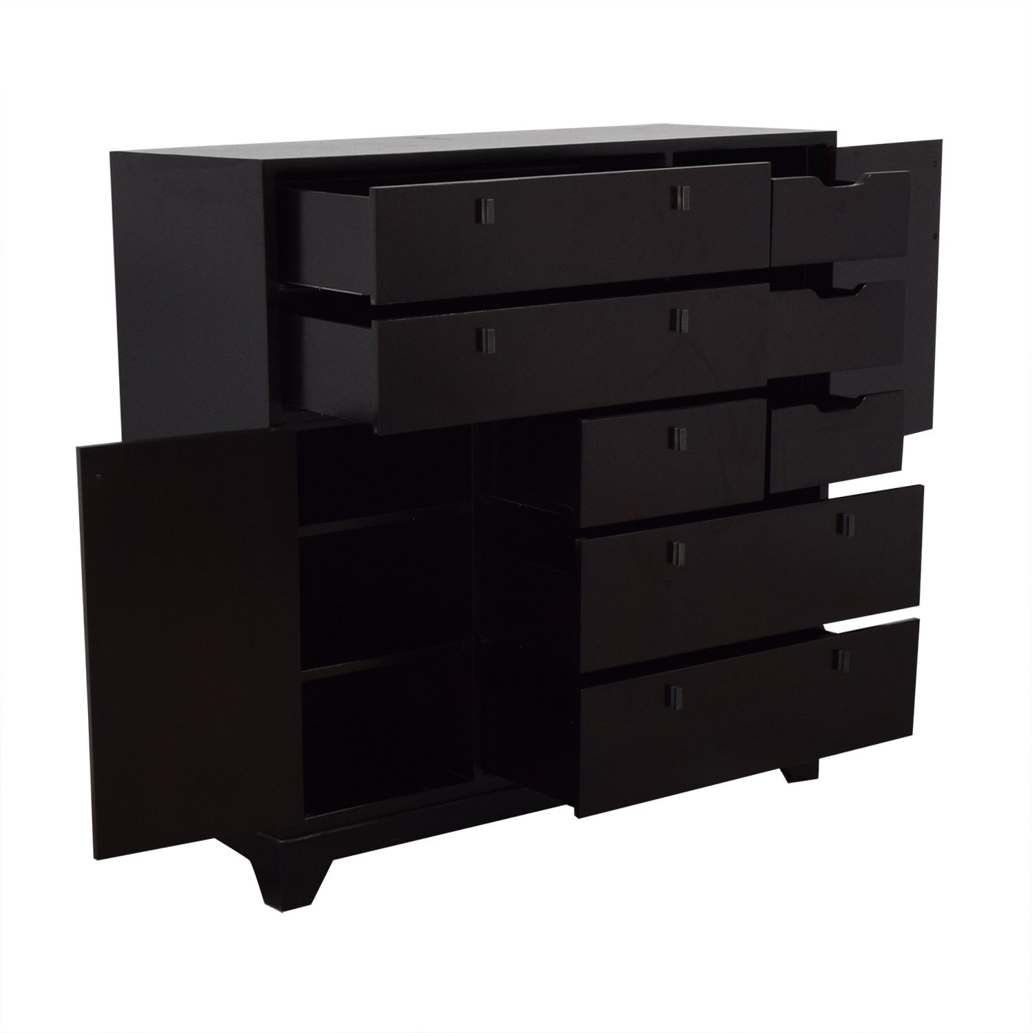 shop Crate & Barrel Five Drawer Dresser with Two Cabinets Crate & Barrel Dressers