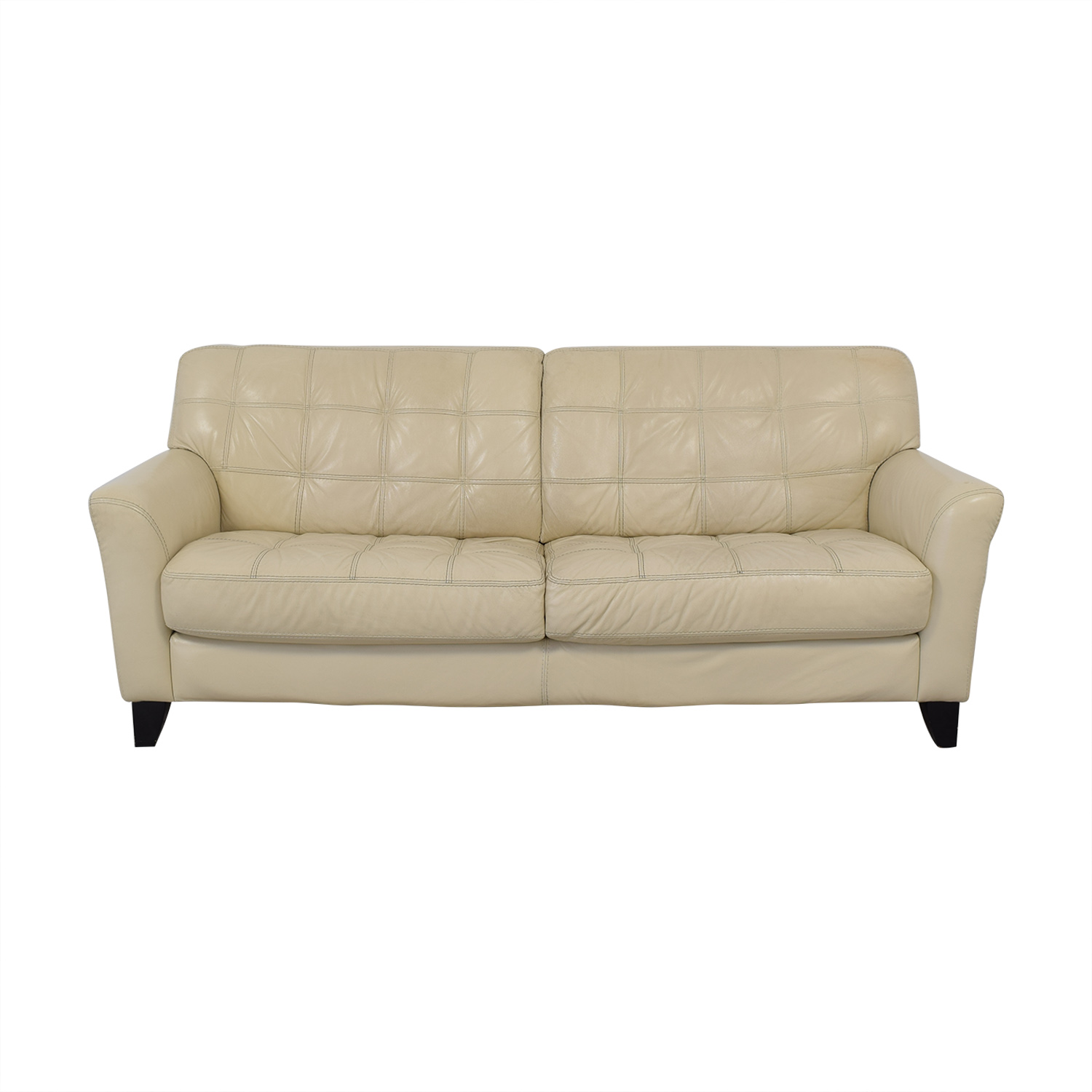 shop Macy's Chateau d'Ax Leather Sofa Chateau d'Ax