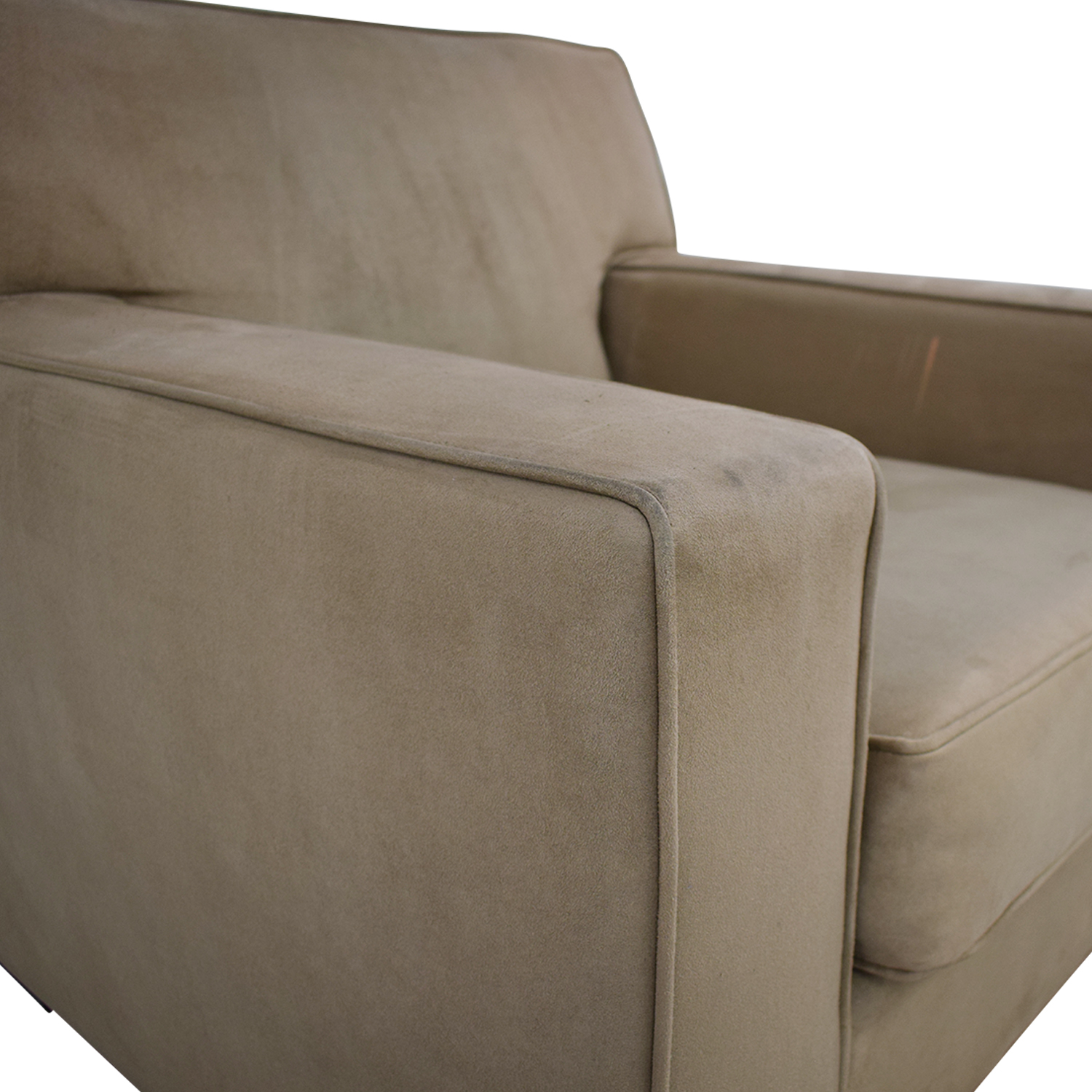 shop Crate & Barrel Suede Sofa Chair Crate & Barrel Accent Chairs