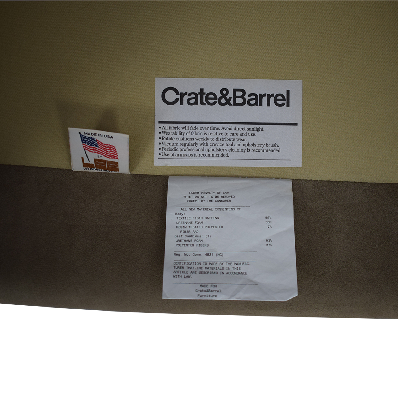 Crate & Barrel Suede Sofa Chair Crate & Barrel