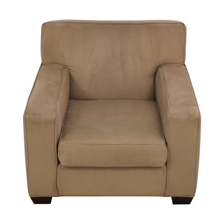 Crate & Barrel Crate & Barrel Suede Sofa Chair second hand