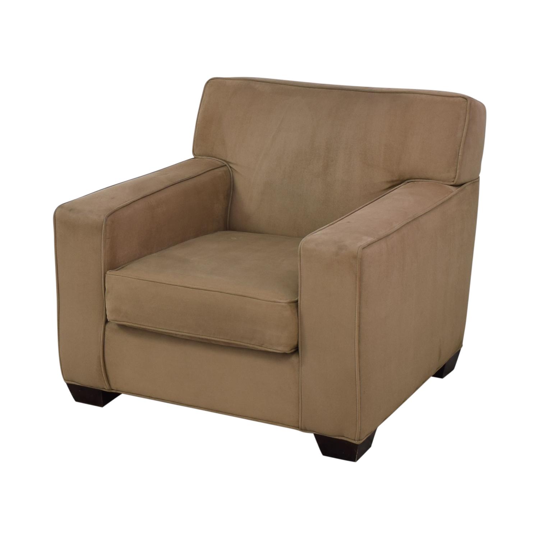 buy Crate & Barrel Suede Sofa Chair Crate & Barrel