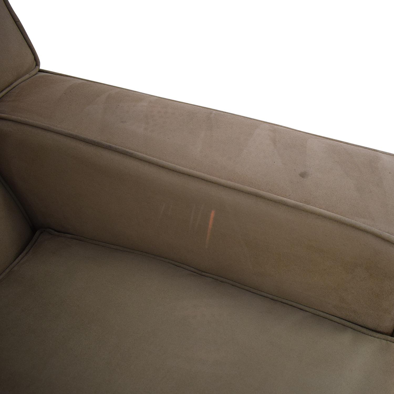 Crate & Barrel Crate & Barrel Suede Sofa Chair