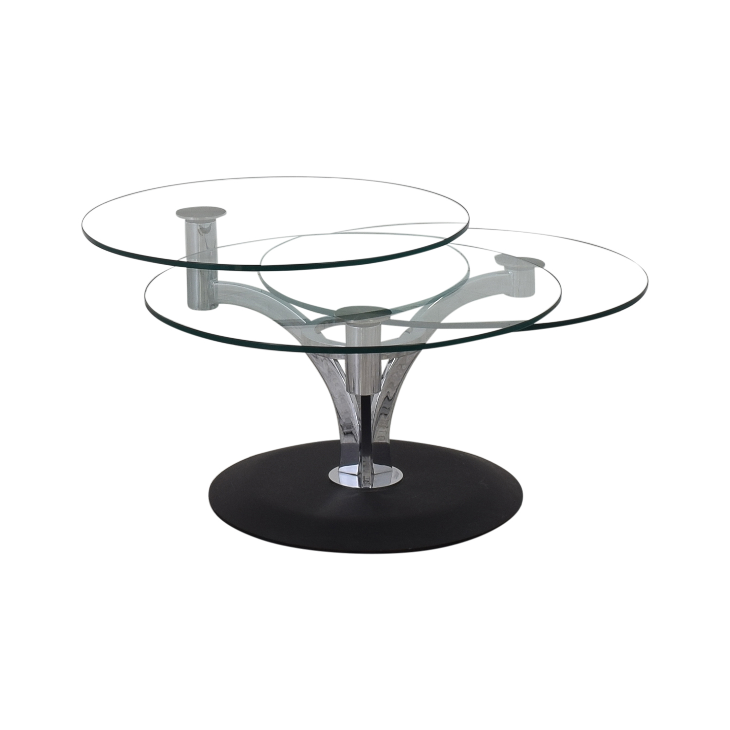 Jensen-Lewis Trillo Motion Coffee Table clear & black