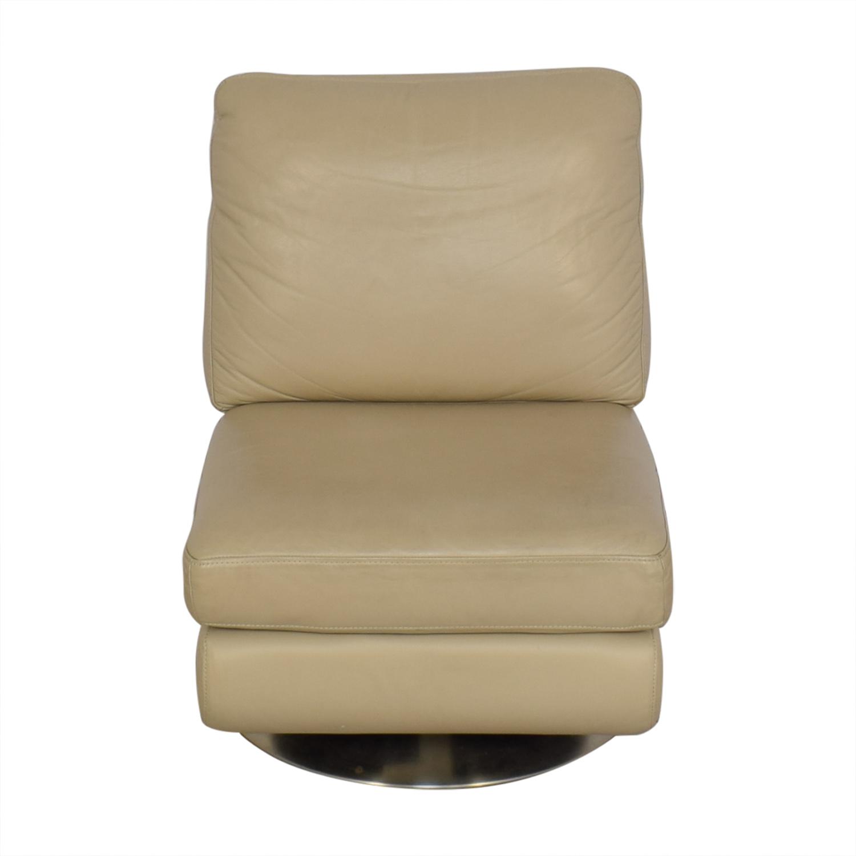 West Elm West Elm Armless Swivel Chair tan
