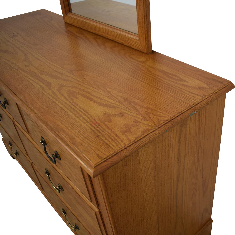 buy Ethan Allen Canterbury Dresser with Mirror Ethan Allen Dressers