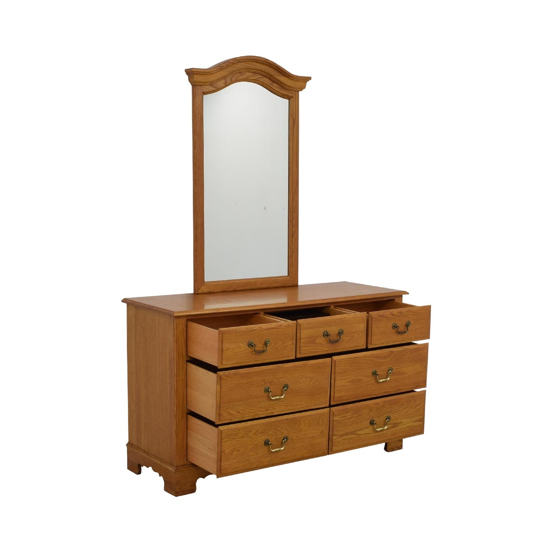 Ethan Allen Canterbury Dresser with Mirror / Dressers