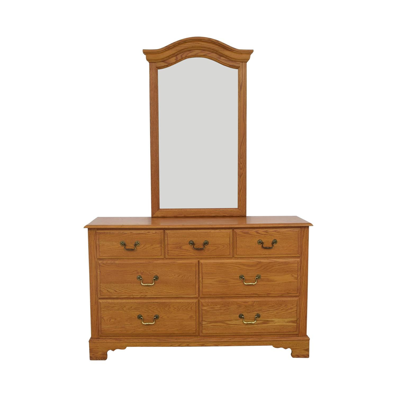shop Ethan Allen Canterbury Dresser with Mirror Ethan Allen