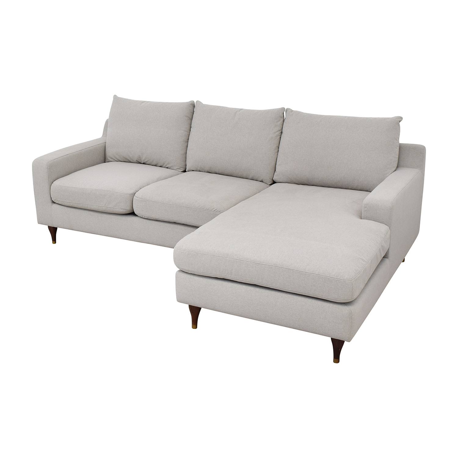 Interior Define Sloan Sectional Sofa with Chaise Interior Define