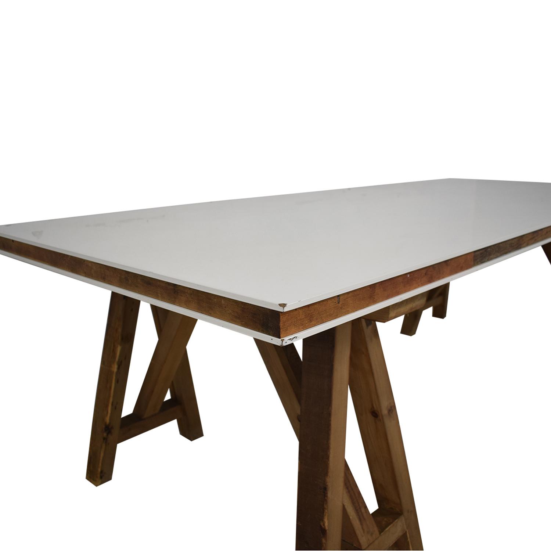 Safavieh Kirby Pinewood Dining Table Safavieh