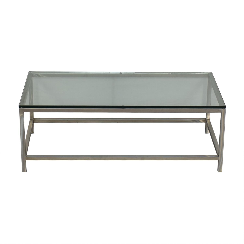 buy Crate & Barrel Era Rectangular Coffee Table Crate & Barrel Tables