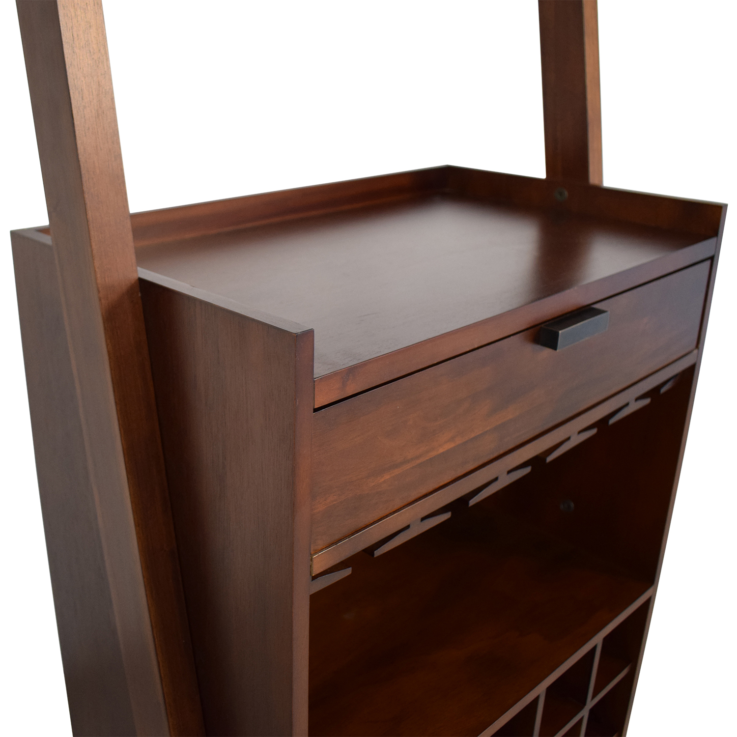 Crate & Barrel Sawyer Leaning Wine Bar / Bookcases & Shelving