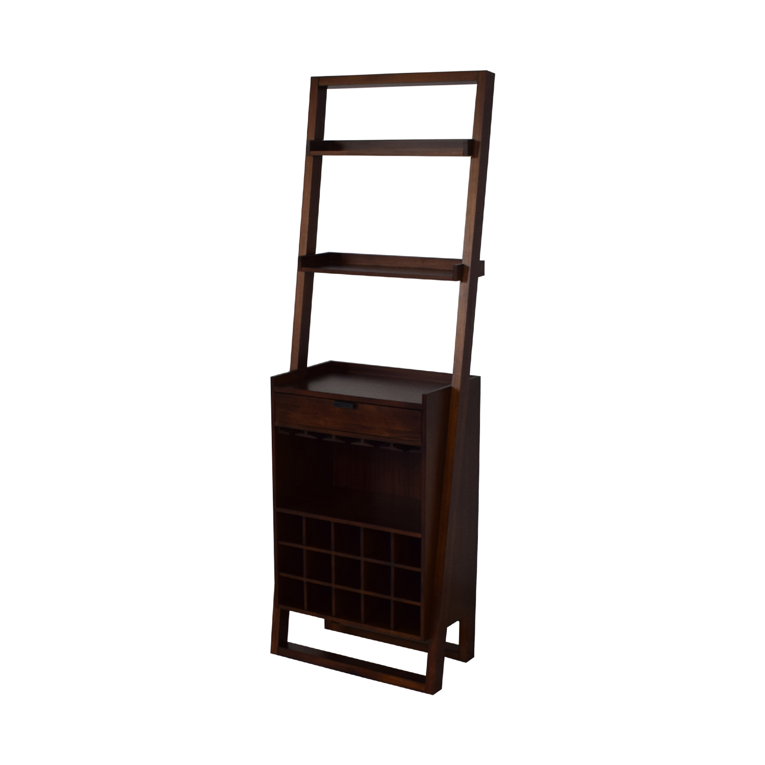 Crate & Barrel Crate & Barrel Sawyer Leaning Wine Bar for sale