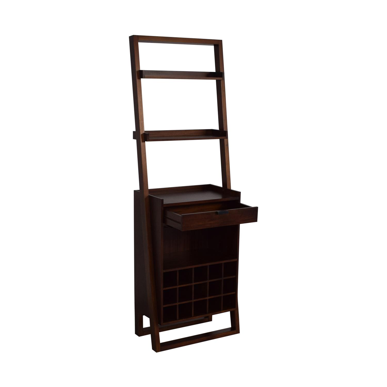 shop Crate & Barrel Sawyer Leaning Wine Bar Crate & Barrel