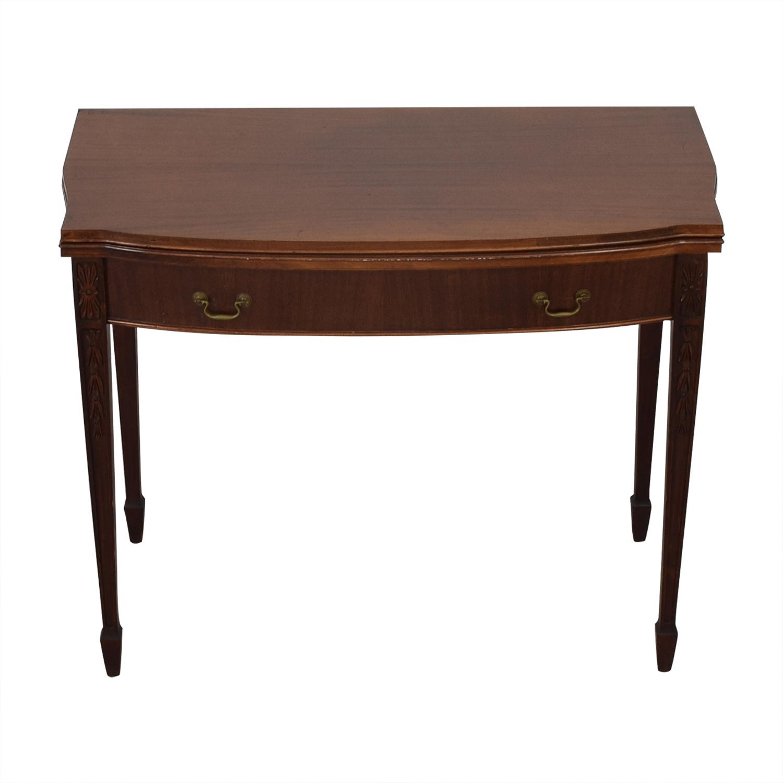Antique Expandable Console Table discount