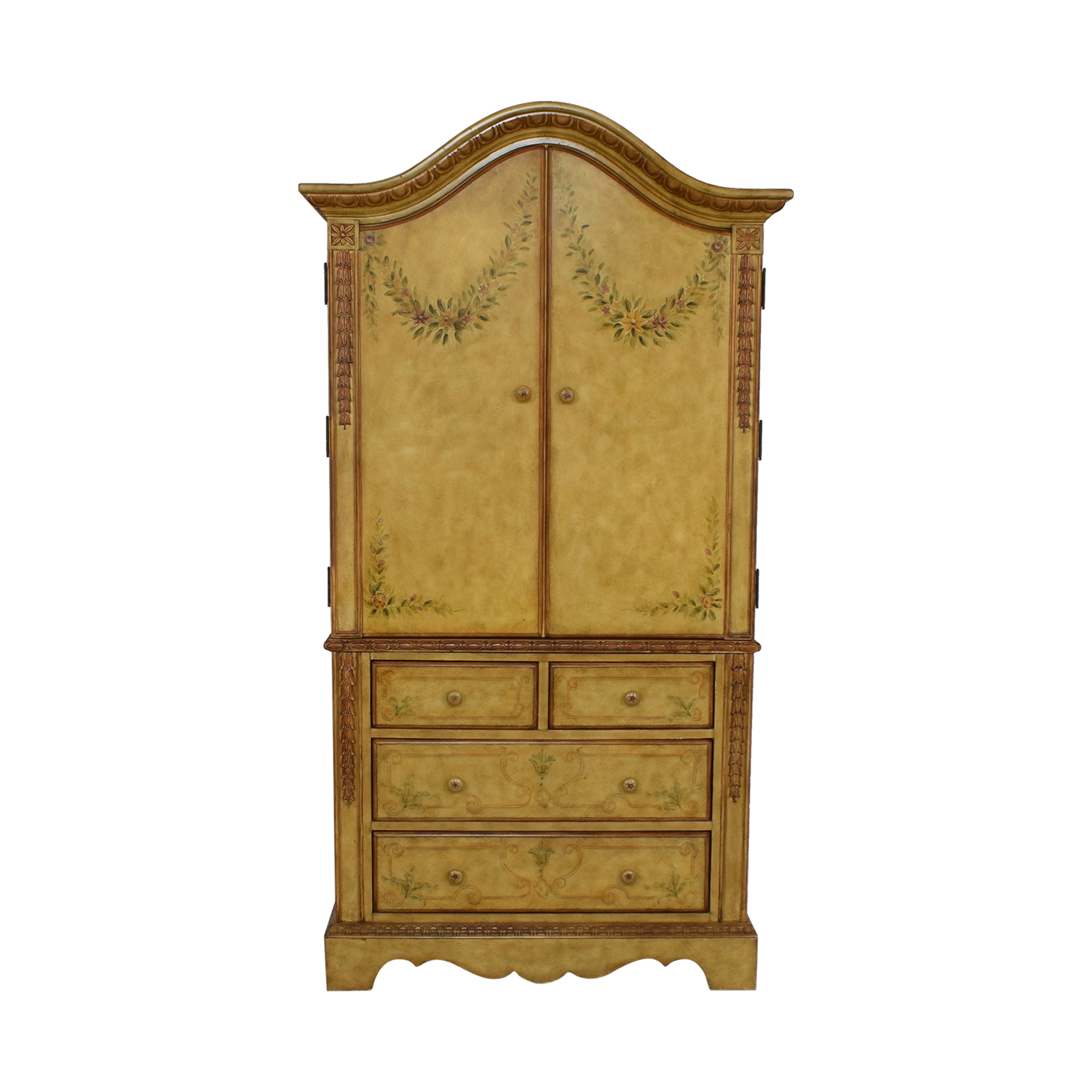 Domain Home Domain Home Hand-Painted Armoire on sale
