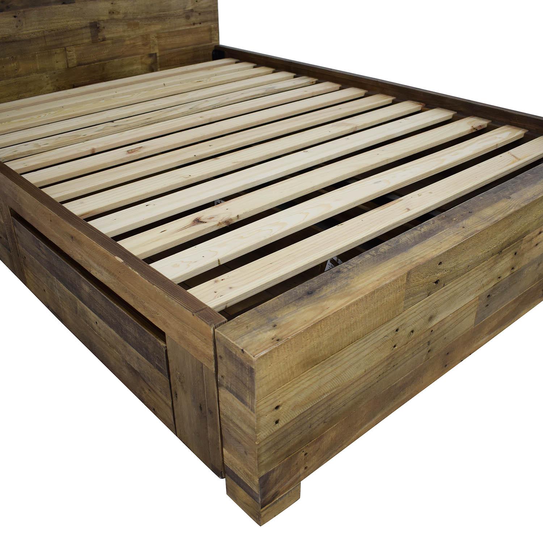 West Elm Emmerson Reclaimed Wood Storage Full Bed West Elm