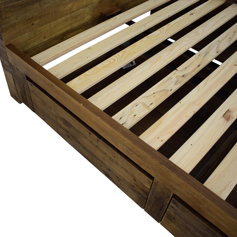 West Elm Emmerson Reclaimed Wood Storage Full Bed / Beds