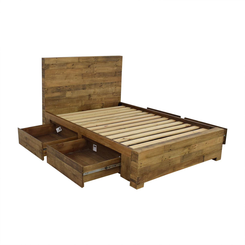 buy West Elm Emmerson Reclaimed Wood Storage Full Bed West Elm