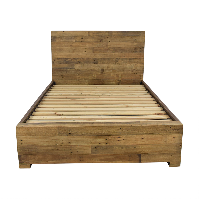 West Elm West Elm Emmerson Reclaimed Wood Storage Full Bed on sale
