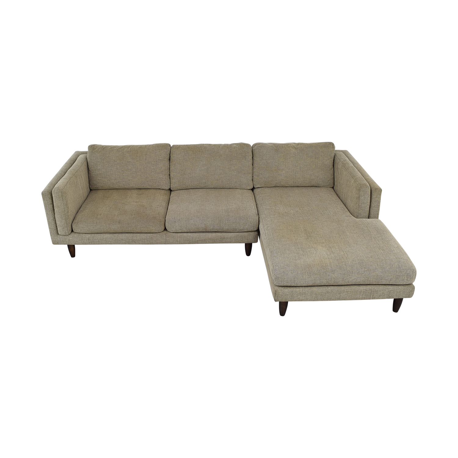 Admirable 76 Off Jason Furniture Chaise Sectional Couch Sofas Unemploymentrelief Wooden Chair Designs For Living Room Unemploymentrelieforg