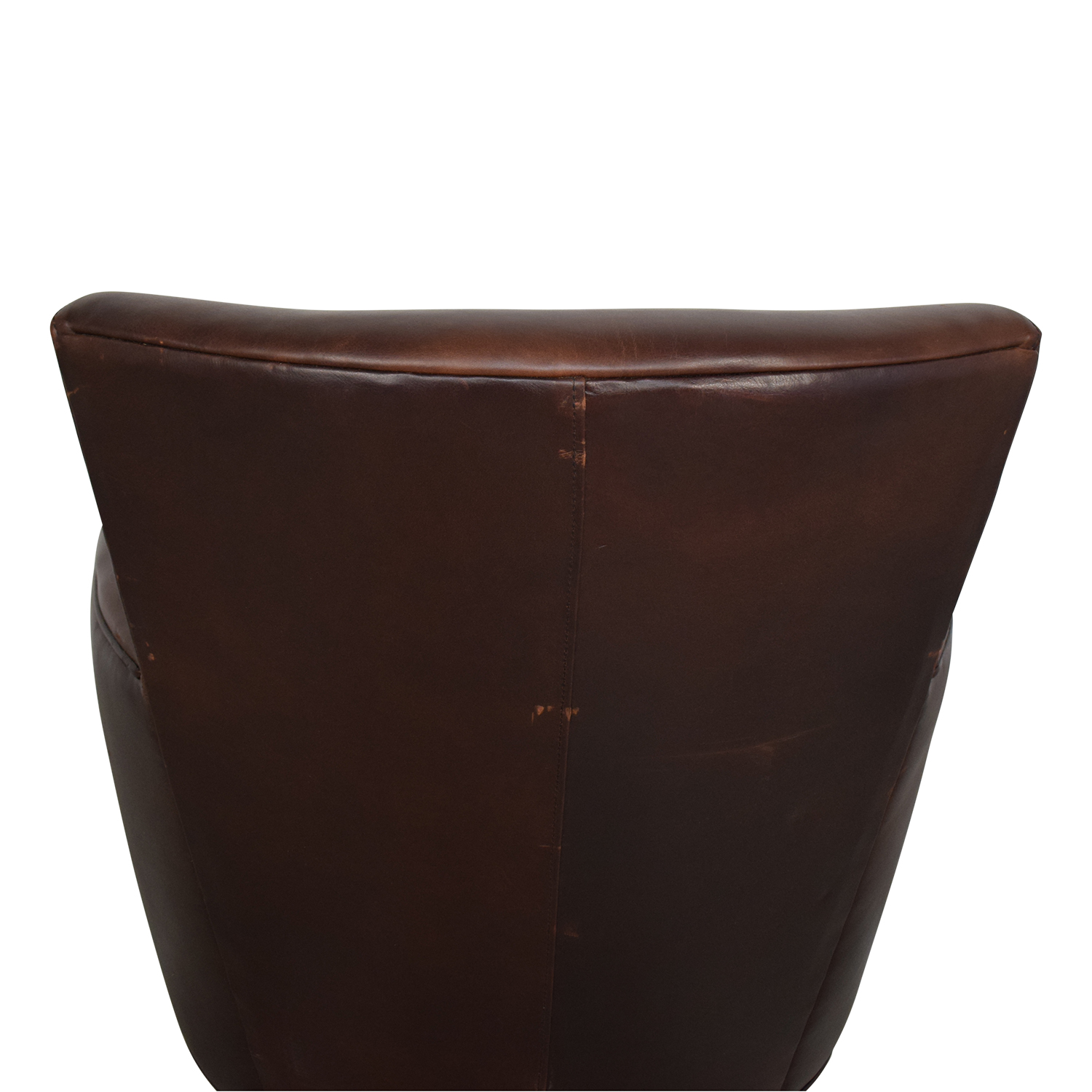 Crate & Barrel Briarwood Leather Chair Crate & Barrel