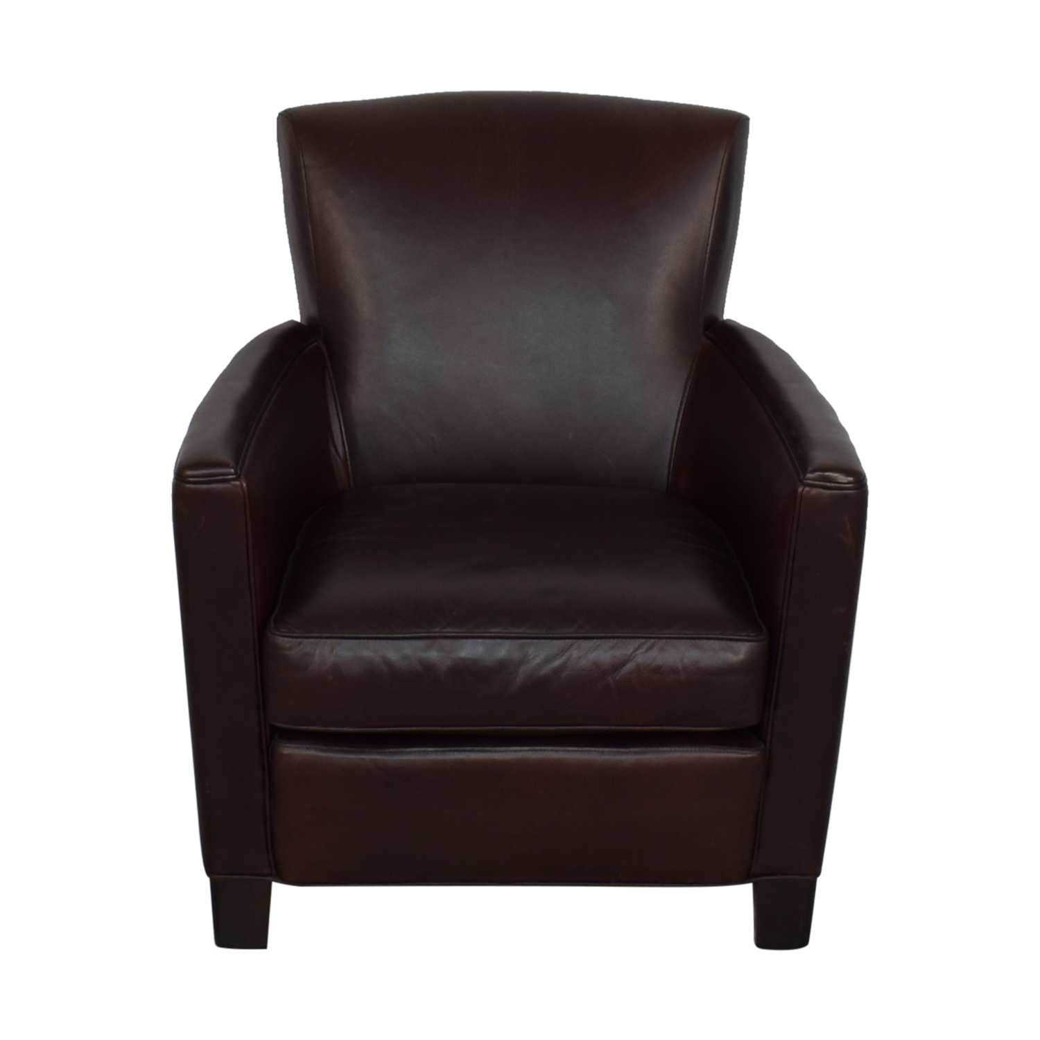 Crate & Barrel Crate & Barrel Briarwood Leather Chair dimensions