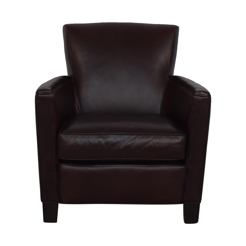 Ordinaire 71% OFF   Crate U0026 Barrel Crate U0026 Barrel Briarwood Leather Chair / Chairs