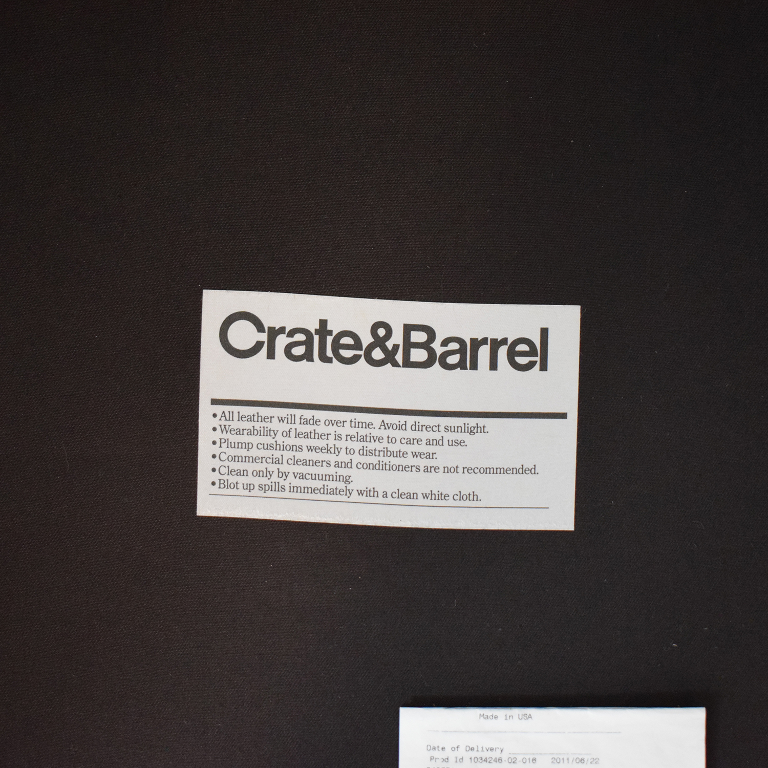Crate & Barrel Crate & Barrel Briarwood Leather Chair on sale