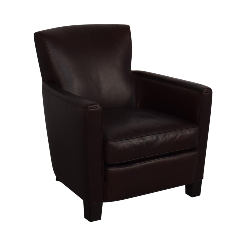 Crate & Barrel Crate & Barrel Briarwood Leather Chair nj